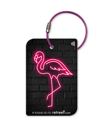 retreev SMART Bag / Luggage Tag - Flamingo