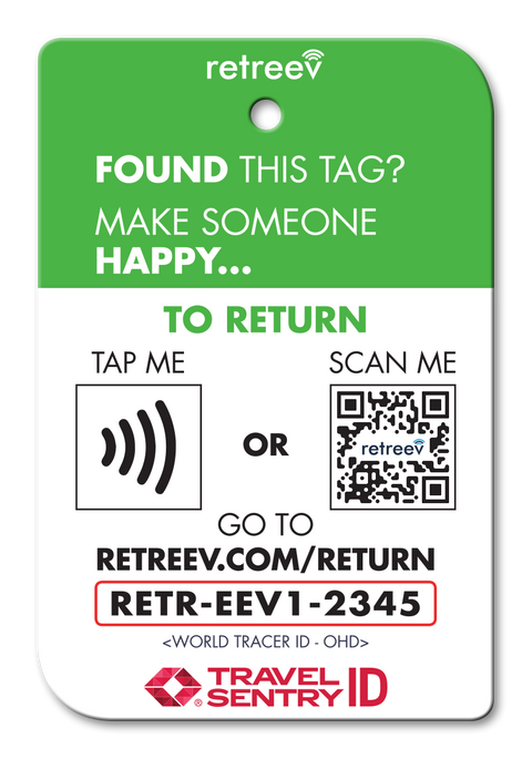 retreev SMART Bag / Luggage Tag - Emoji Devil