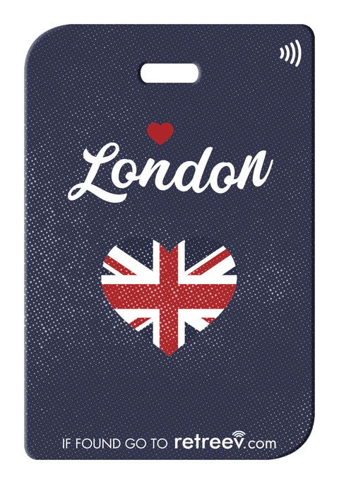 retreev SMART Bag / Luggage Tag - London