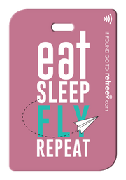 retreev SMART Bag / Luggage Tag - Eat. Sleep. Fly. Repeat.