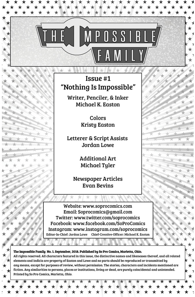 The Impossible Family #1 Page 0