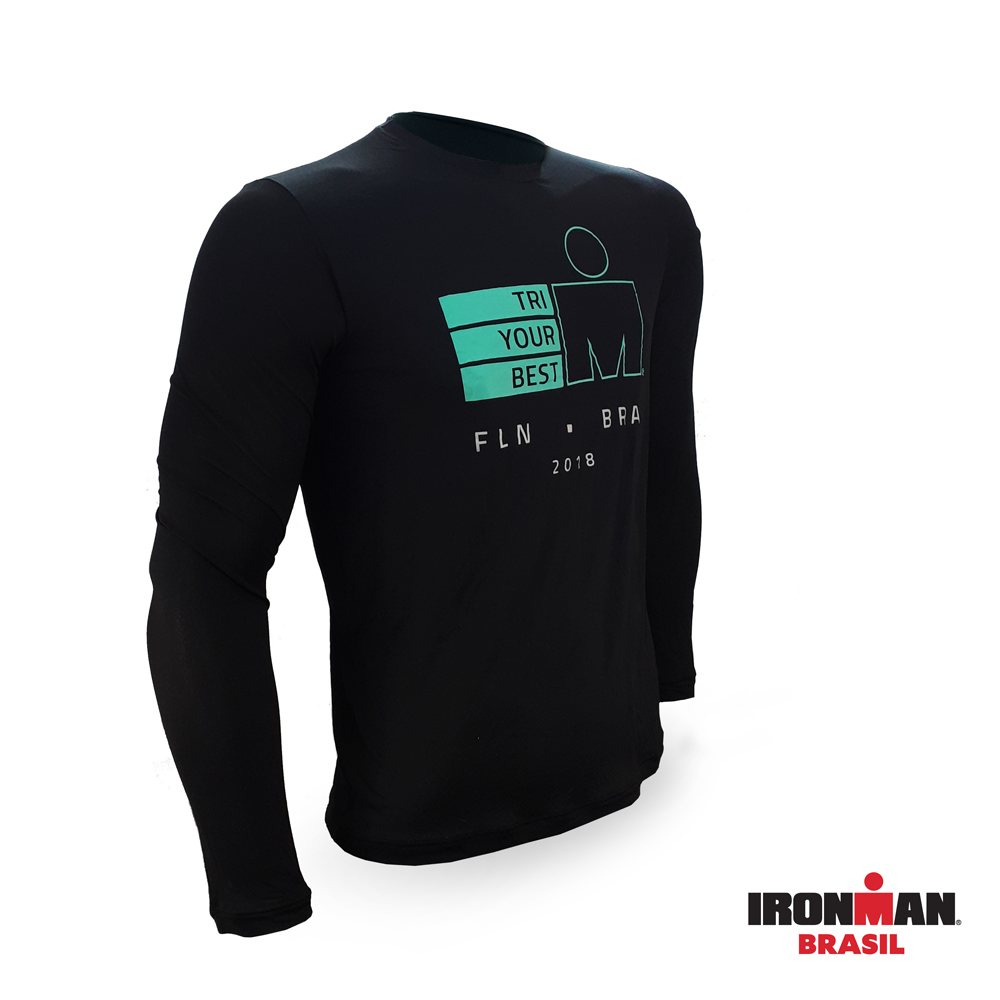 Camiseta Manga Longa Finisher IRONMAN BRASIL 2018