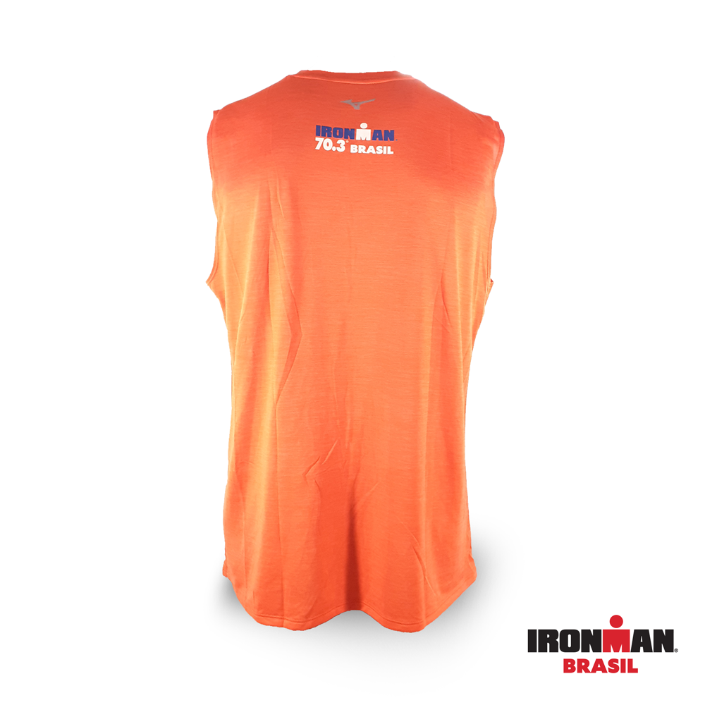 Camiseta regata Mizuno IRONMAN 70.3 BRASIL Made