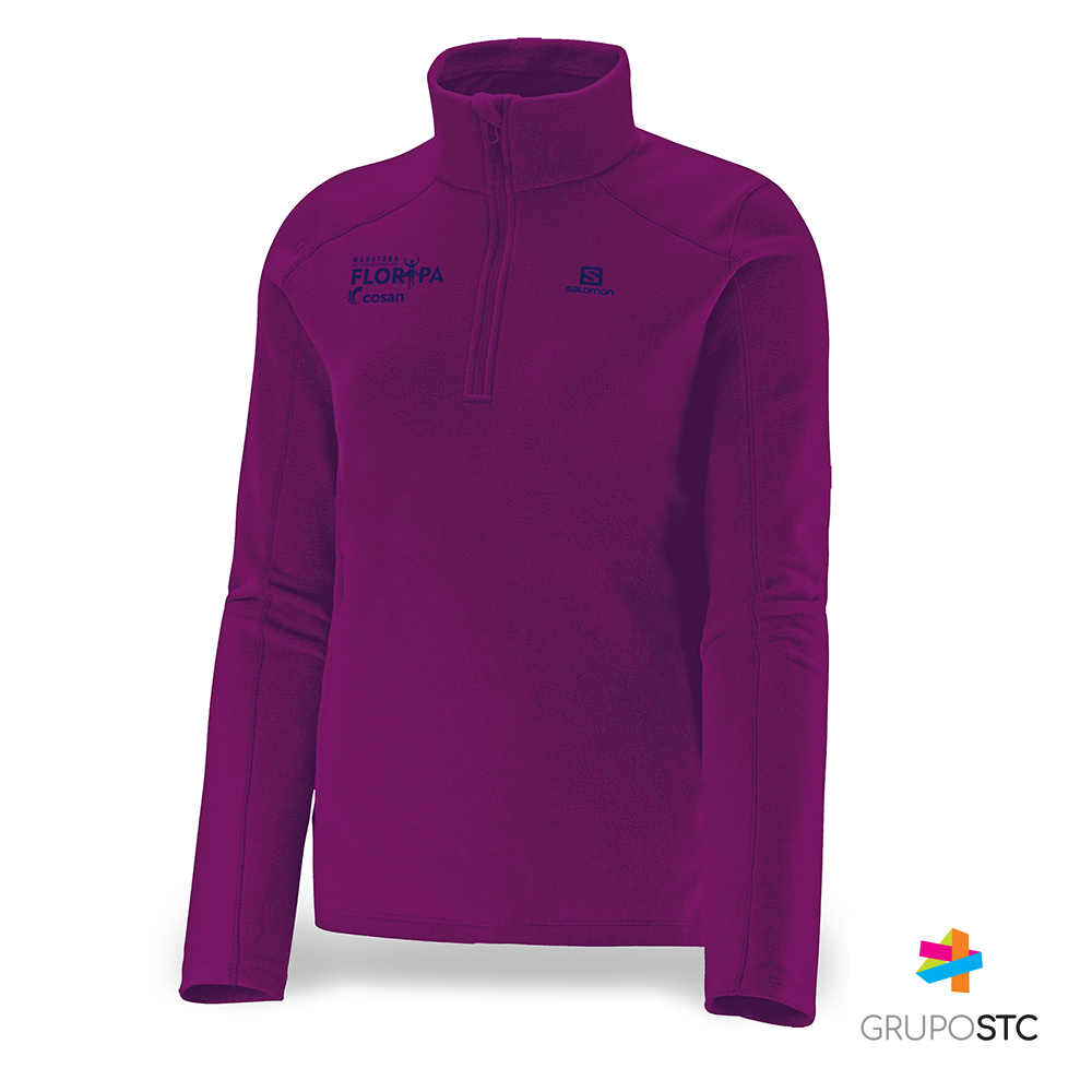 Fleece Polar 1/2 Zip Salomon Aster Purple Feminino