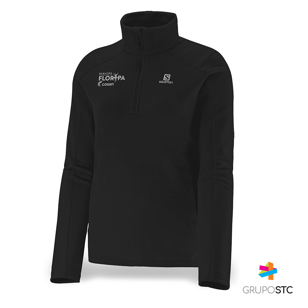 Fleece Polar 1/2 Zip Salomon Black Feminino