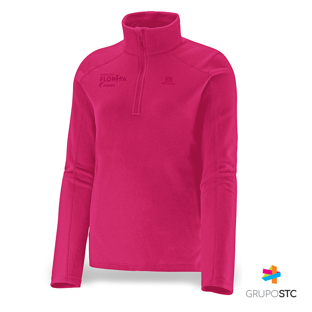 Fleece Polar 1/2 Zip Salomon Hot Pink Feminino