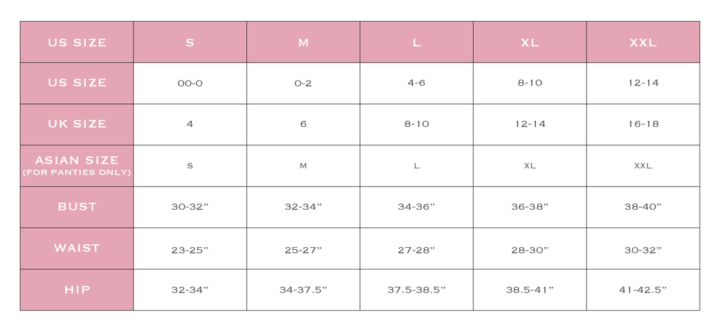 Sizing And Faqs Perk By Kate