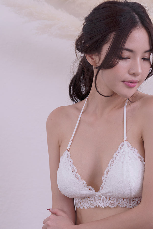 Alexis Scallop Padded Bralette by perk by kate