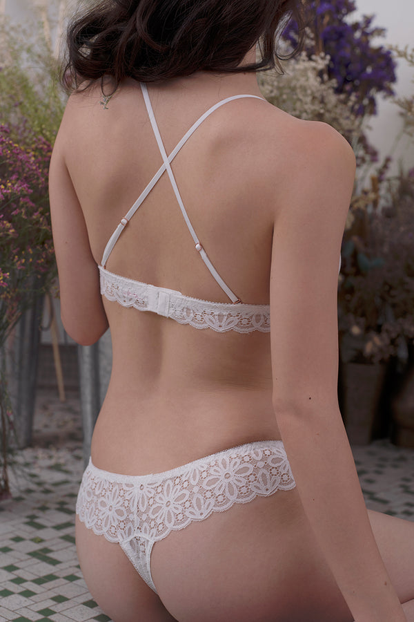 Alexis Scallop Thong by perk by kate