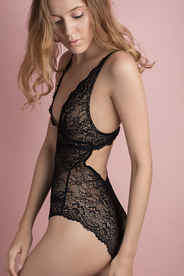 All Lace Glamour Bodysuit by Samantha Chang