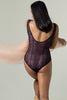 Amethyst Plunge Padded Bodysuit by perk by kate