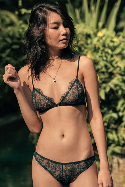 Aurora Sheer Triangle Bralette by perk by kate