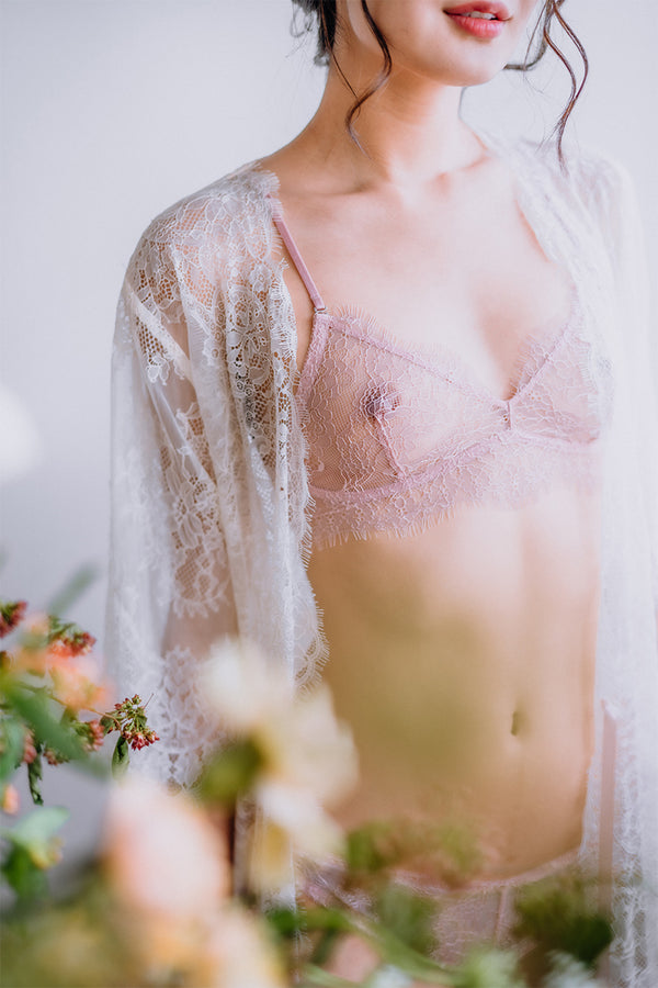 Aurora Sheer Balconette Bralette by perk by kate