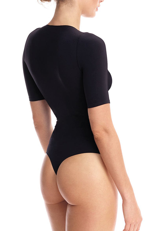 commando Ballet Body Boat Neck Bodysuit