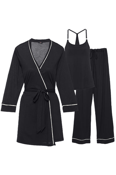 Bella Maternity Robe Cami Pants Set by Cosabella