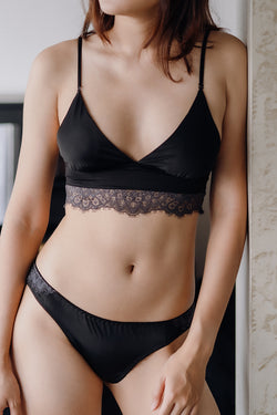 Emely Crop Padded Bralette by perk by kate