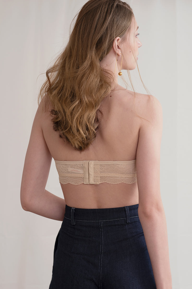 Form Wireless Lace Strapless Bra by perk by kate