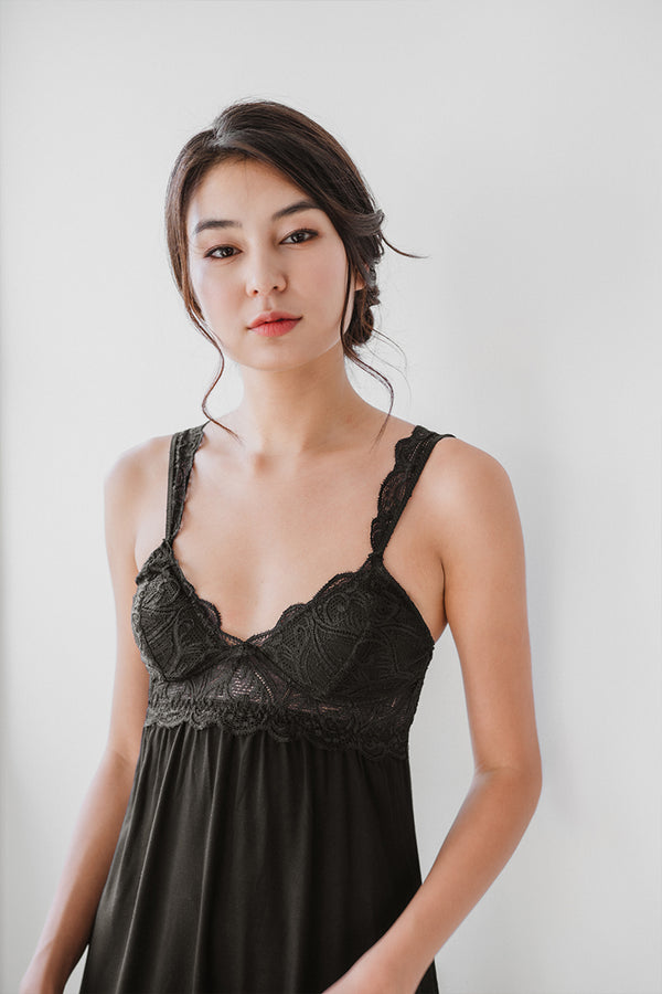Mi Amor Lace Strap Padded Chemise by perk by kate