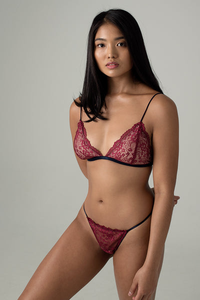 Piper Skinny Strap Padded Bralette by perk by kate