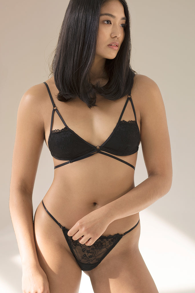 a0bbb70977635 Piper Strappy Padded Bralette by perk by kate