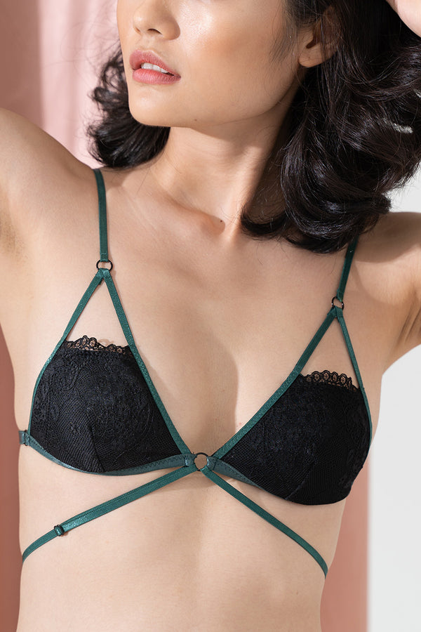Piper Strappy Padded Bralette by perk by kate