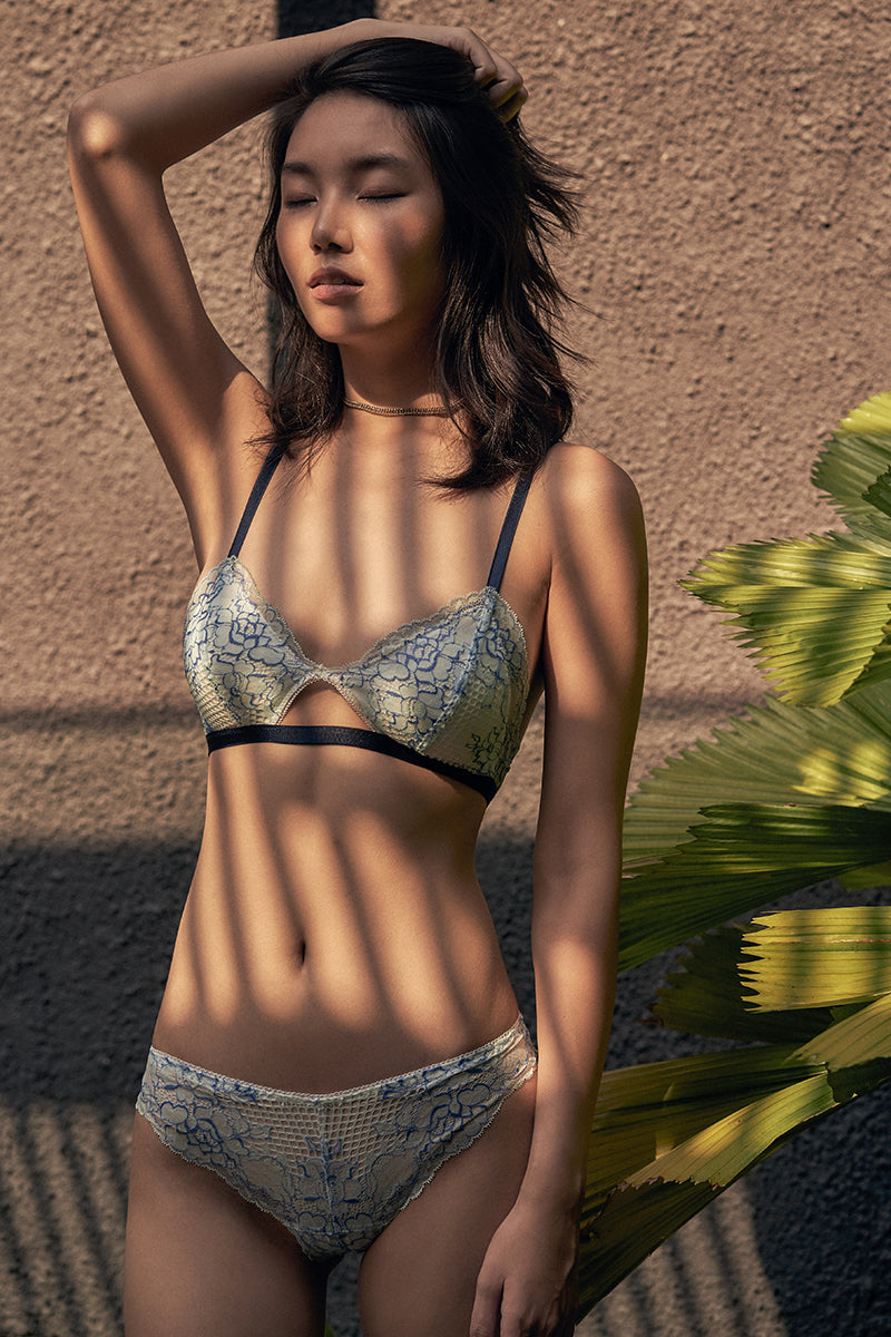 Scarlett Cut Out Padded Bralette by Perk by Kate