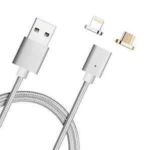 METAL BRAIDED PREMIUM QUALITY MAGNETIC CHARGING CABLE (3 IN 1)