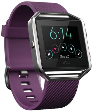 Fitbit Blaze Smart Fitness Watch & Heart Monitor, Plum - Large (Refurbished)