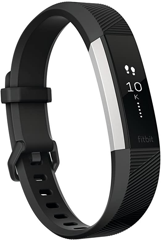 Fitbit Alta HR FB408SBKL , Black - Large (Refurbished)