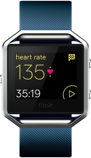 Fitbit Blaze Smart Fitness Watch & Heart Monitor, Blue - Large (Refurbished)