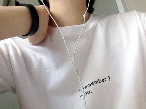 """REMEMBER? NO."" TEE"