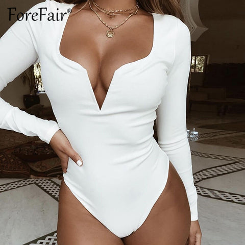 """OPEN V-NECK"" BODYSUIT"