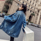 """METAL SPIKES"" DENIM JACKET"