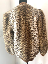 Load image into Gallery viewer, Awesome 80s Leopard Teddy Bear Bomber Jacket by Lilli Ann curated vintage by MySoulRepair