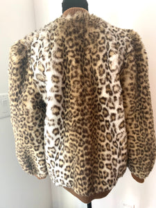 Awesome 80s Leopard Teddy Bear Bomber Jacket by Lilli Ann curated vintage by MySoulRepair