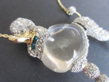 Load image into Gallery viewer, ALEXIS BITTAR Crystal Lucite Jelly Belly French POODLE Runway Statement Necklace