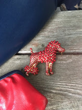 Load image into Gallery viewer, MySoulRepair Dolce Red Pearl Poodle High Fashion Unisex Lapel Pin