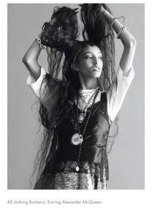 Vintage Black & Gold Cameo Necklace as seen  in I-D magazine