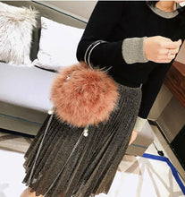Load image into Gallery viewer, Blush Feather Poof Ball Handbag Purse, Super Soft & Flirty!
