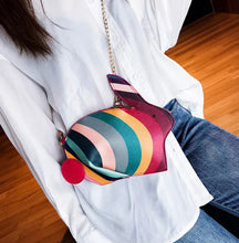 Load image into Gallery viewer, Rainbow Bunny Rabbit Cross Body Bag Handbag Purse