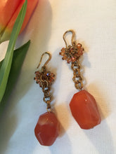 Load image into Gallery viewer, Gay Isber Ornate Carnelian Boho Gypsy Statement Earrings
