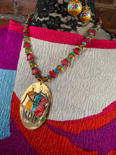 Load image into Gallery viewer, Creative Capers POP Fashionistas OOAK Necklace and Earrings Set