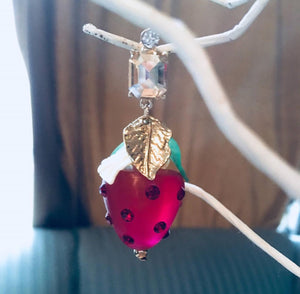 Darling Strawberry Dangles, 90s Glam Earrings