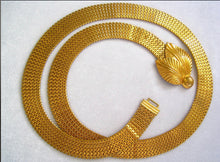 Load image into Gallery viewer, Art Deco Vintage Gold Tone Mesh Bling Belt Or Choker