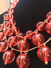 Load image into Gallery viewer, Pools of Light Retro Pink Bubble Statement Necklace