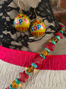 Creative Capers POP Fashionistas OOAK Necklace and Earrings Set