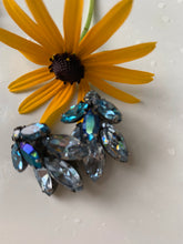 Load image into Gallery viewer, Vintage Juliana Aqua Blue Rhinestone Earrings