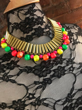 Load image into Gallery viewer, GAY ISBER Neon Egyptian Revival Collar Necklace