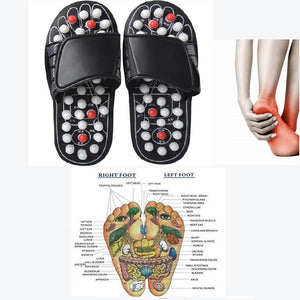 New Foot Massage Slippers, Acupuncture Therapy Massager Shoes For Foot Acupoint Reflexology Feet Care Massageador Sandal