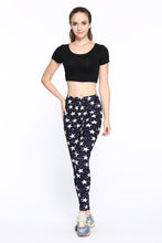 Load image into Gallery viewer, Causal Women Leggings, Fashion Star Print Leggins with High Waist